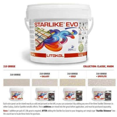 Starlike EVO Epoxy Grout 210 Greige Classic Collection 2.5 kg - 5.5 lbs.