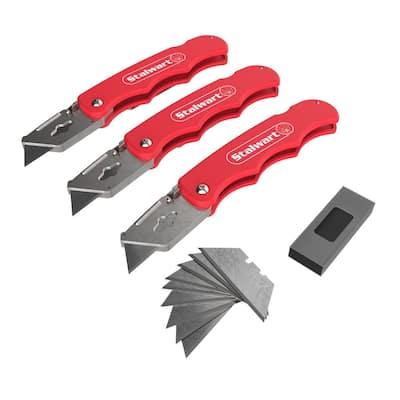 Folding Utility Knife Set (3-Pack)