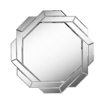 Medium Irregular Beveled Glass Mirror (33.75 in. H x 33.75 in. W)