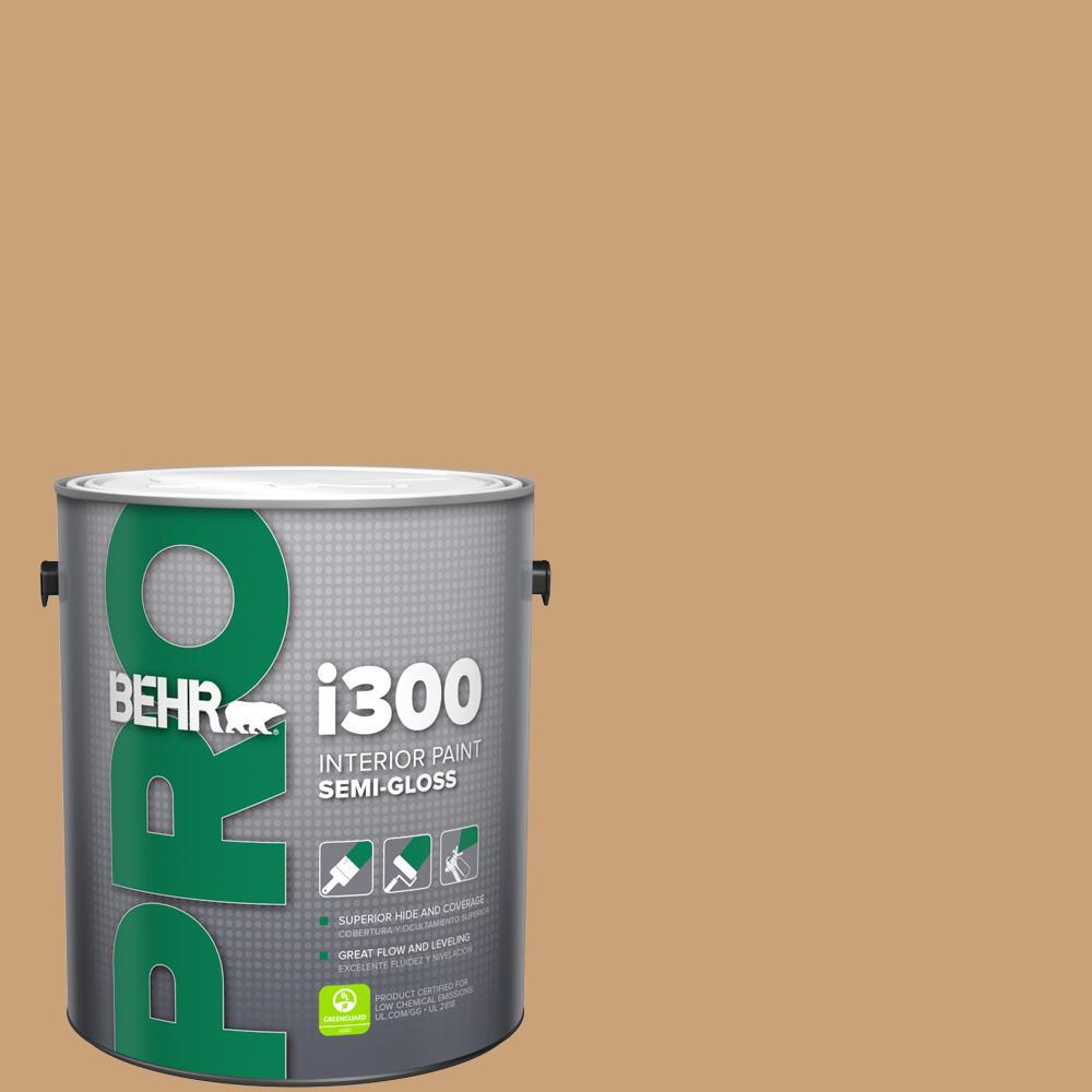 1 gal. #BXC-70 Fresh Sawdust Semi-Gloss Interior Paint