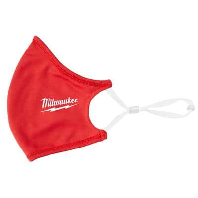 Red 2-Layer Reusable Face Mask (10-Pack)