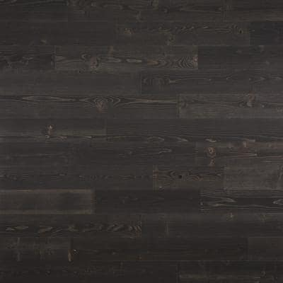 1/8 in. x 4 in. x 12-42 in. Peel and Stick Black Wooden Decorative Wall Paneling (40 sq. ft./Box)