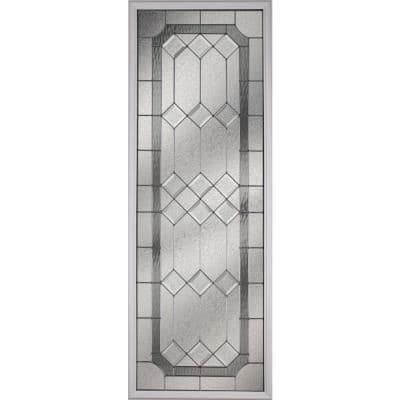 Majestic with Nickel Caming 22 in. x 64 in. x 1 in. with White Frame Replacement Glass