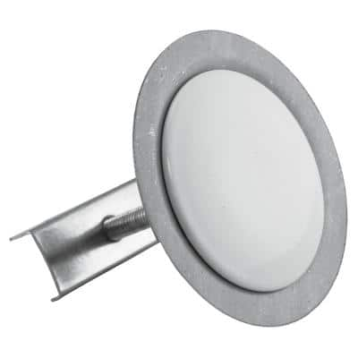 1-3/4 in. O.D. x 2-1/2 in. Length Stainless Steel Kitchen Sink Hole Cover with Wingnut in Polar White