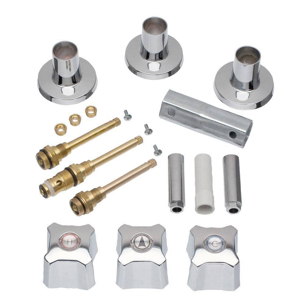 danco 3 handle remodeling kit for kohler trend tub shower faucets chrome 39672 the home depot