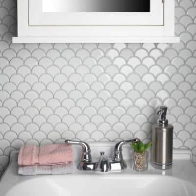 fish scale tile flooring the home