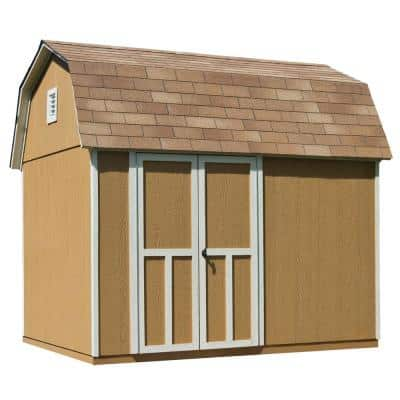 Briarwood 10 ft. x 8 ft. Wood Storage Shed with Floor
