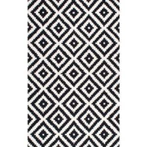 Kellee Contemporary Black 6 ft. x 9 ft.  Area Rug