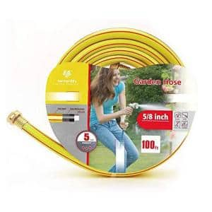5/8 in. Dia. x 100 ft. 3-Star Yellow Standard Garden Hose