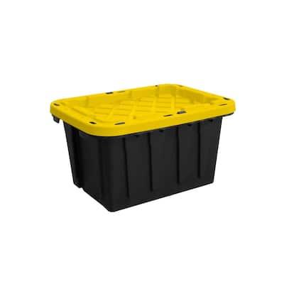12-Gal. Tough Tote in Black & Yellow