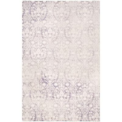 Passion Lavender/Ivory 8 ft. x 11 ft. Floral Area Rug
