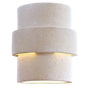 Ceramic 1-Light White Outdoor Pocket Wall Lantern Sconce