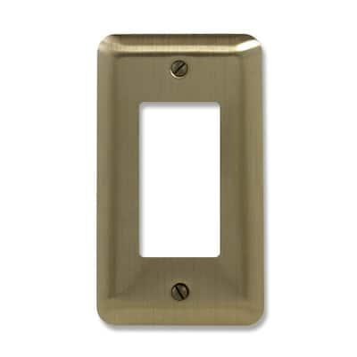 Brass 1-Gang Decorator/Rocker Wall Plate (1-Pack)