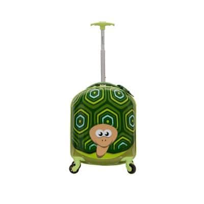 17 in. Jr. Kids' My First Polycarbonate Hardside Spinner Luggage, Turtle