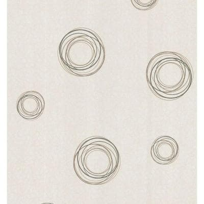Retro Circles Paper Strippable Roll Wallpaper (Covers 56.38 sq. ft.)