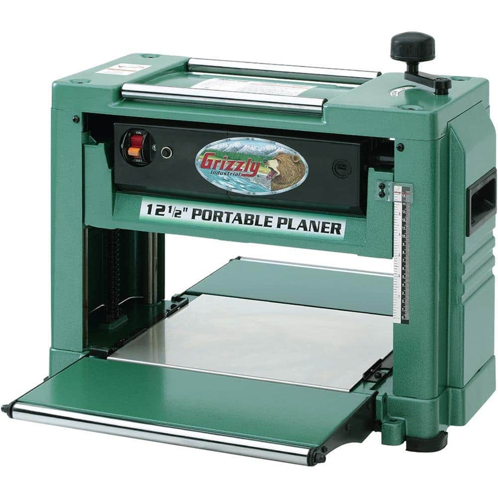 Grizzly Industrial 15 Amp 12 1 2 In 2 Hp Corded Planer G0505 The Home Depot