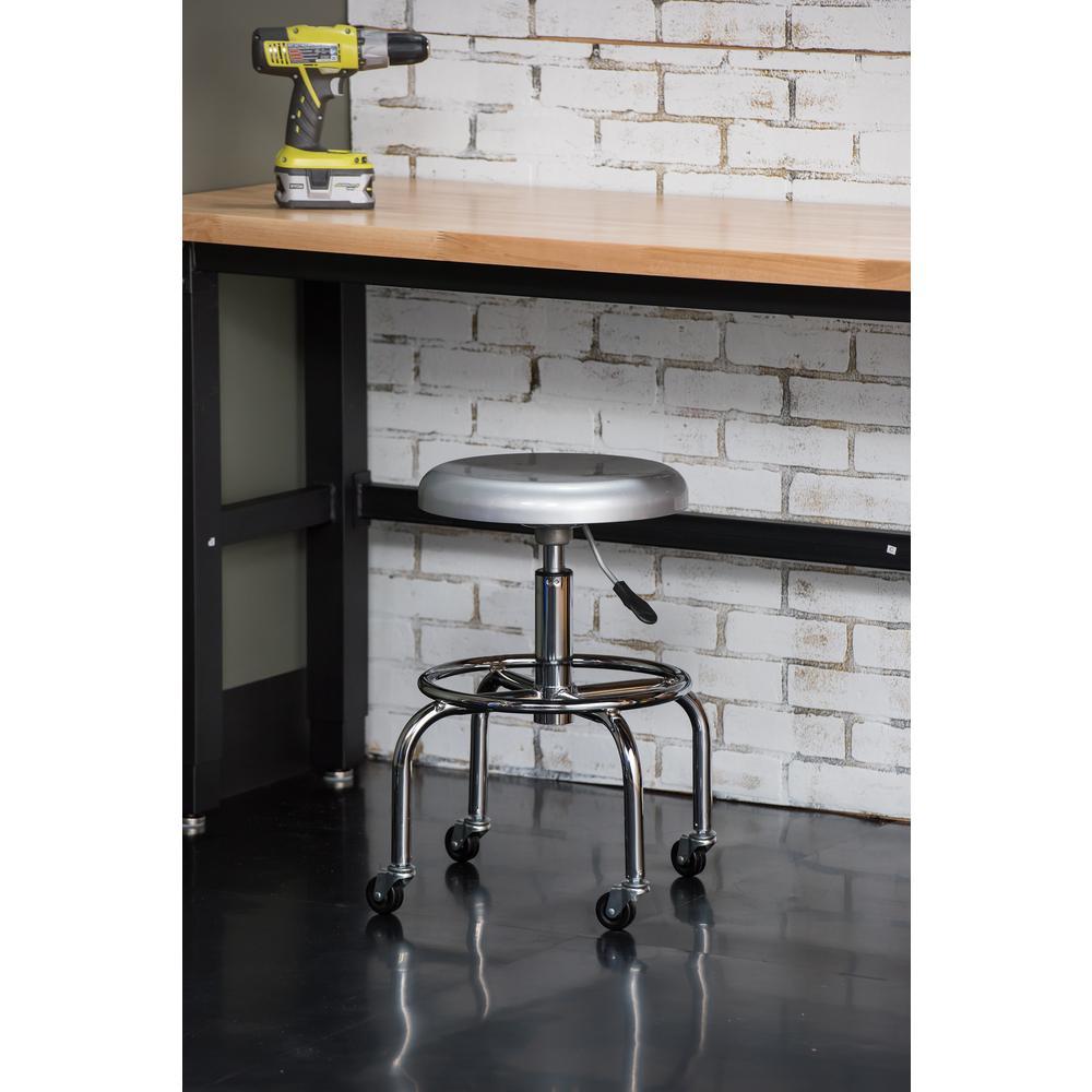 26 in. Aluminum Work Stool