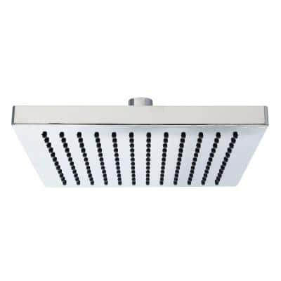 1-Spray 8 in. Single Wall Mount Fixed Rain Shower Head in Polished Chrome