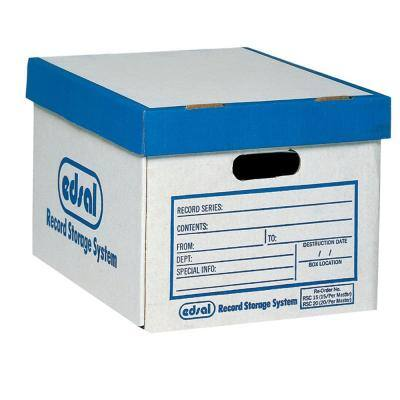 25 lb. Record Storage Boxes (12-Pack)