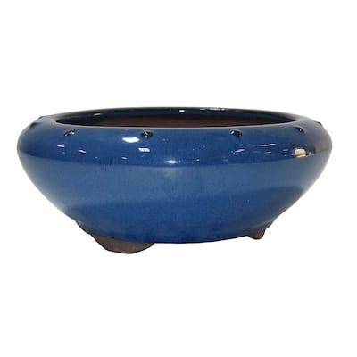 Small Blue Round Pot