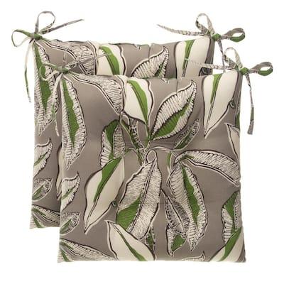 Panama Tan Rectangle Outdoor Tufted Seat Cushion (2-Pack)