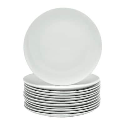 Organic White Dinner Plate (Set of 12)