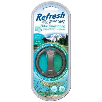 Alpine Meadow and Summer Breeze Odor Eliminating Dual Scented Oil Diffuser
