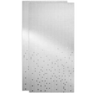 29-1/32 in. x 67-3/4 in. x 1/4 in. (6 mm) Frameless Sliding Shower Door Glass Panels in Mozaic (For 50-60 in. Doors)