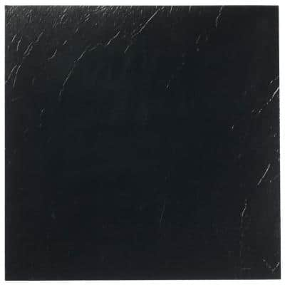 Sterling Black Solid 12 in. x 12 in. Peel and Stick Vinyl Tile (20 sq. ft. / case)