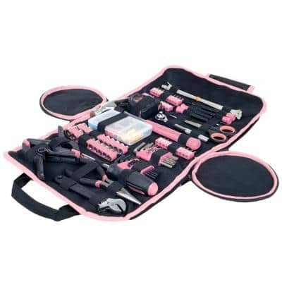 Pink Hand Tool Set with Carry Case Set of Tools for General Repairs (86-Piece)