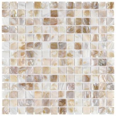 Conchella Square Natural 12 in. x 12 in. Seashell Mosaic (10.2 sq. ft. /Case)