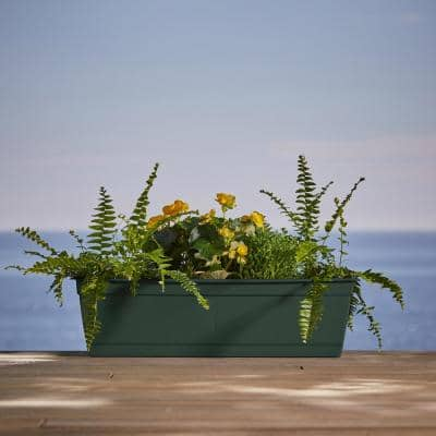 Dayton 24 in. Plastic Window Box Planter, Turtle Green
