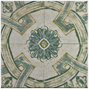 Klinker Retro Blanco Coreo Encaustic 12-3/4 in. x 12-3/4 in. Ceramic Floor and Wall Quarry Tile (1.13 sq. ft./Each)