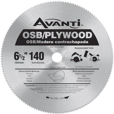 6-1/2 in. x 140-Teeth OSB/Plywood Saw Blade