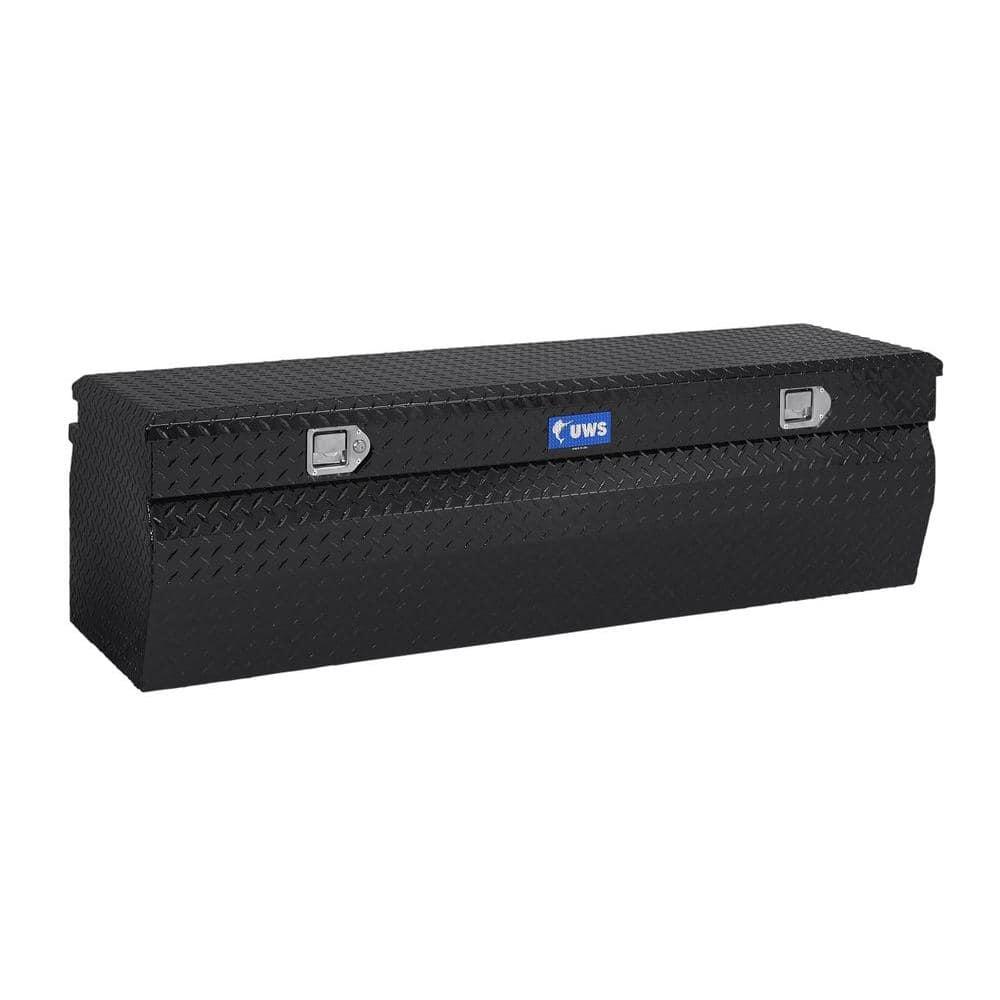 UWS 60.875 Gloss Black Aluminum Full Size Chest Truck Tool Box