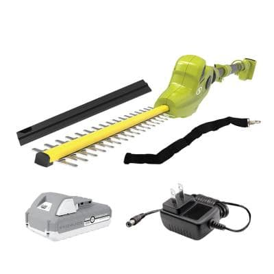 24-Volt Cordless Electric Pole Hedge Trimmer Kit with 2.0 Ah Battery + Charger