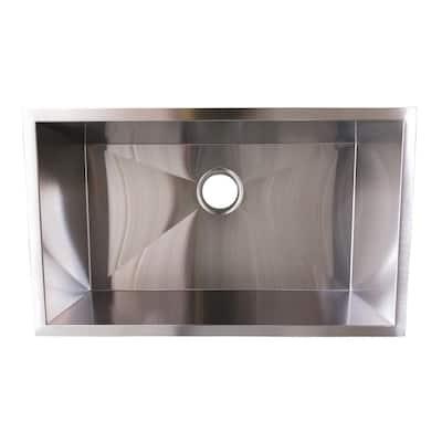 Stainless Steel 30 in. Single Bowl Undermount Kitchen Sink