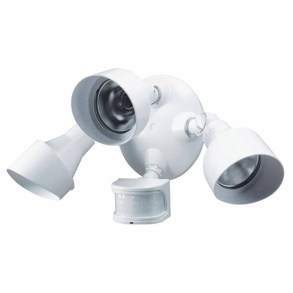 Heath Zenith  Motion-Sensing  Hardwired  White  Security Wall Light