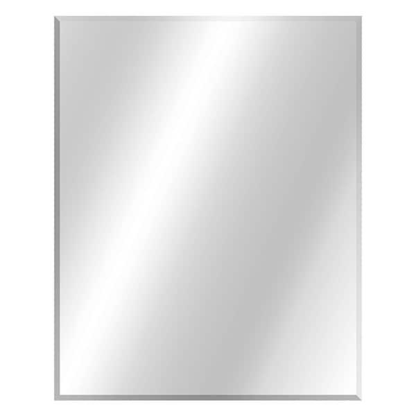 Glacier Bay 24 In W X 30 In H Frameless Rectangular Beveled Edge Bathroom Vanity Mirror In Silver 81173 The Home Depot