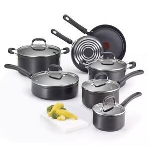 ProGrade 12-Piece Titanium Nonstick Cookware Set in Black