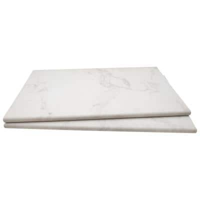 Praia Carrara 13 in. x 24 in. x 0.75 in. Glazed Porcelain Pool Coping (26 Pieces/56.33 sq. ft./Pallet)