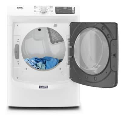 7.3 cu. ft. 120-Volt White Stackable Gas Vented Dryer with Steam and Quick Dry Cycle, ENERGY STAR