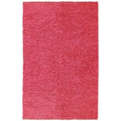 Pink Shag Chenille Twist 4 ft. x 6 ft. Area Rug