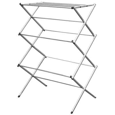 30 in. x 42 in. Grey Clothes Rack