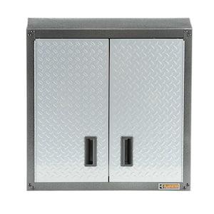 Steel 1-Shelf Wall Mounted Garage Cabinet in White (28 in W x 28 in H x 12 in D)