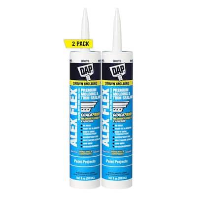 Alex Flex 10.1 oz. White Premium Molding and Trim Sealant (2-Pack)
