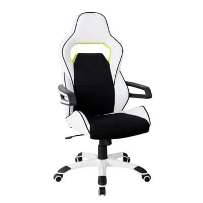 Ergonomic Essential Racing Style White Home and Office Chair