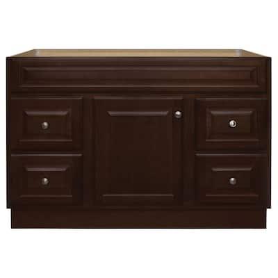 Hampton 48 in. W x 21 in. D x 33.5 in. H Bathroom Vanity Cabinet Only in Cognac
