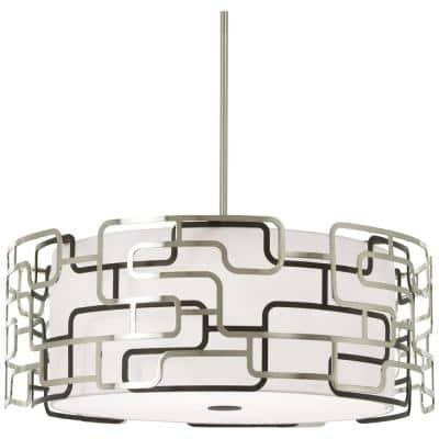 Alecia's Tiers 150-Watt Equivalence Brushed Nickel Integrated LED Pendant