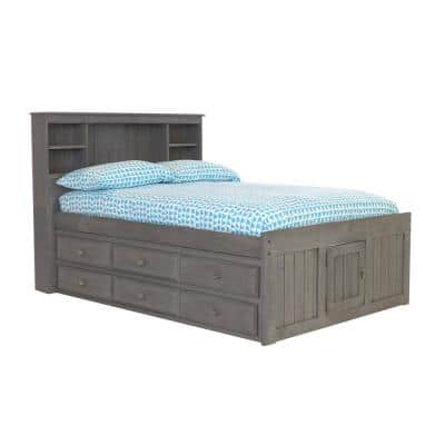 Charcoal Gray Series Full Size Platform Bed Charcoal Gray with 6-Drawers